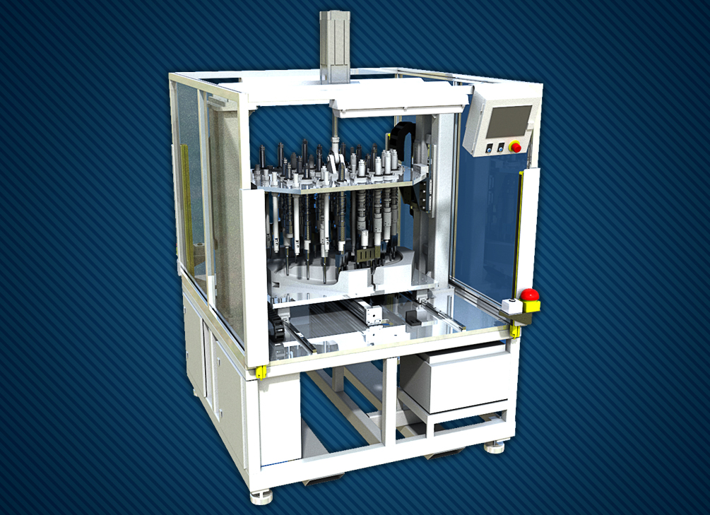 Equipment for welding door panels with double workstation